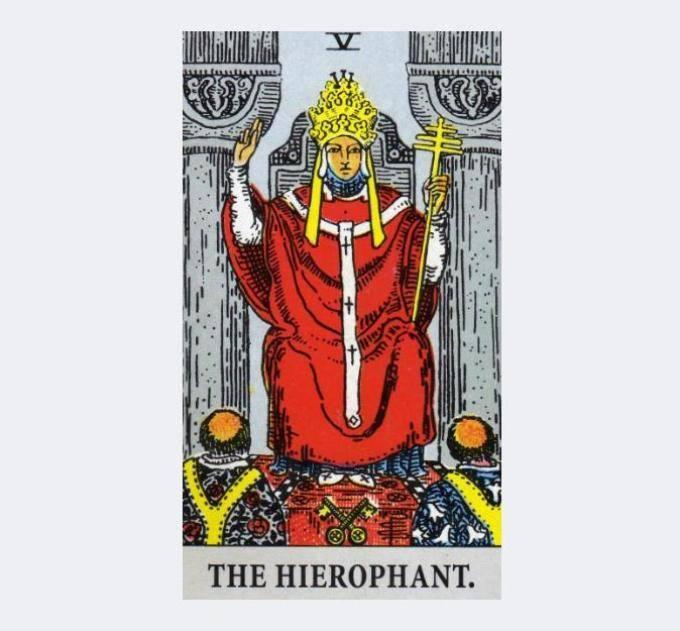 Старший аркан таро 5 иерофант (верховный жрец): значение карты в раскладах и сочетаниях
