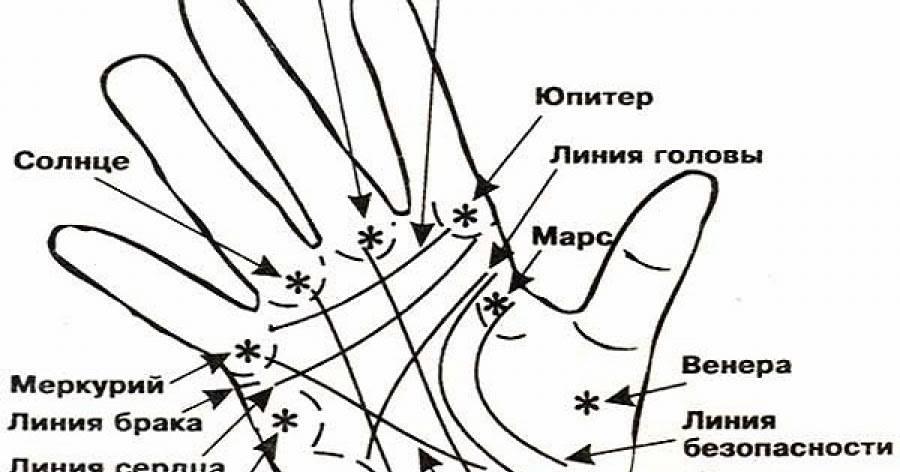 Линия сатурна на руке - фото с расшифровкой
