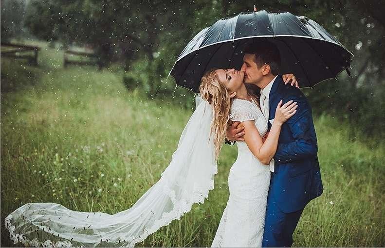 Приметы погоды в день свадьби, дождь к счастью