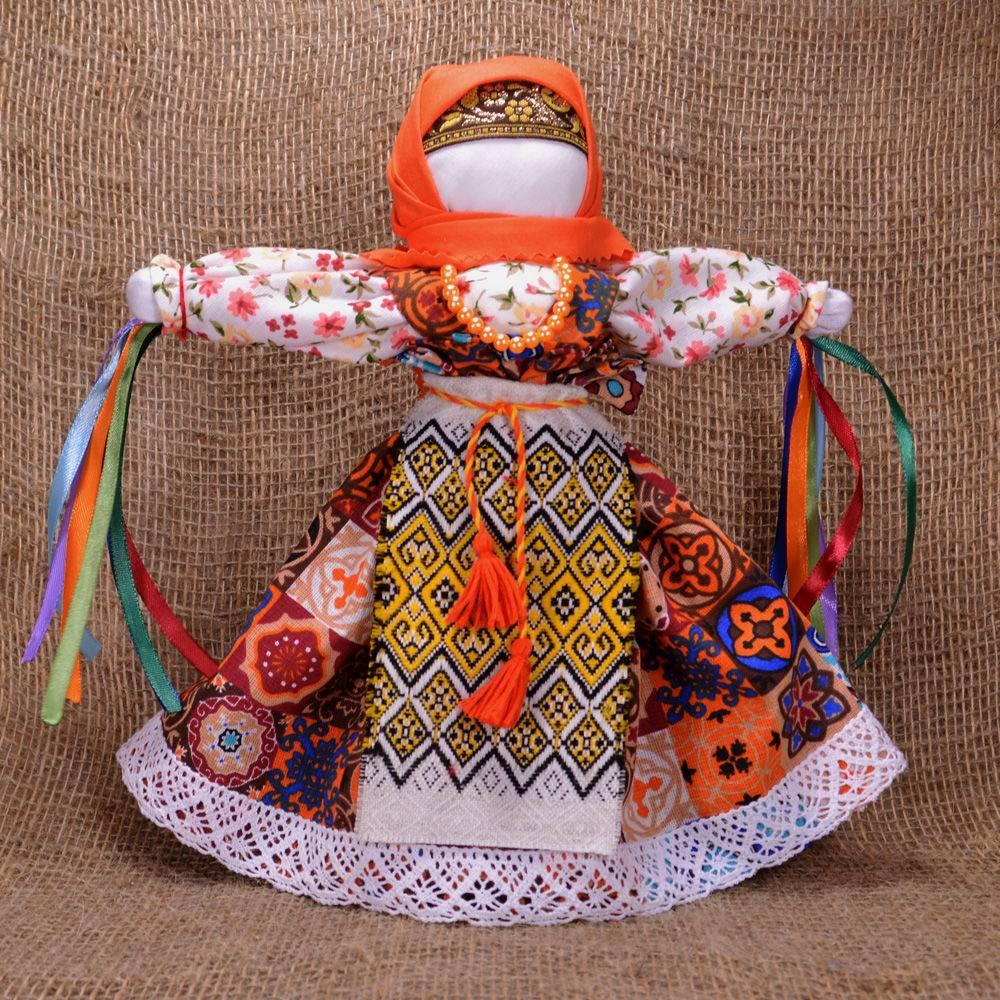 Домашняя кукла «солнышко-масленица»- игровая - на палочке.    страна мастеров