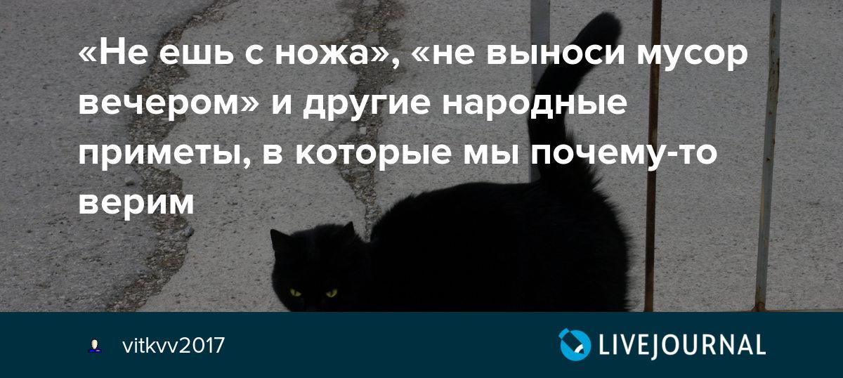 Почему люди верят в приметы? | potu-storony.ru