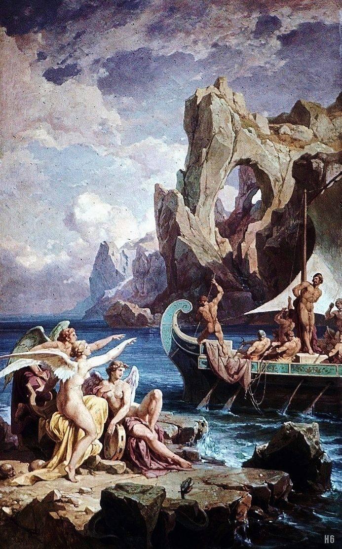 Сирены опасные существа из древнегреческих мифов