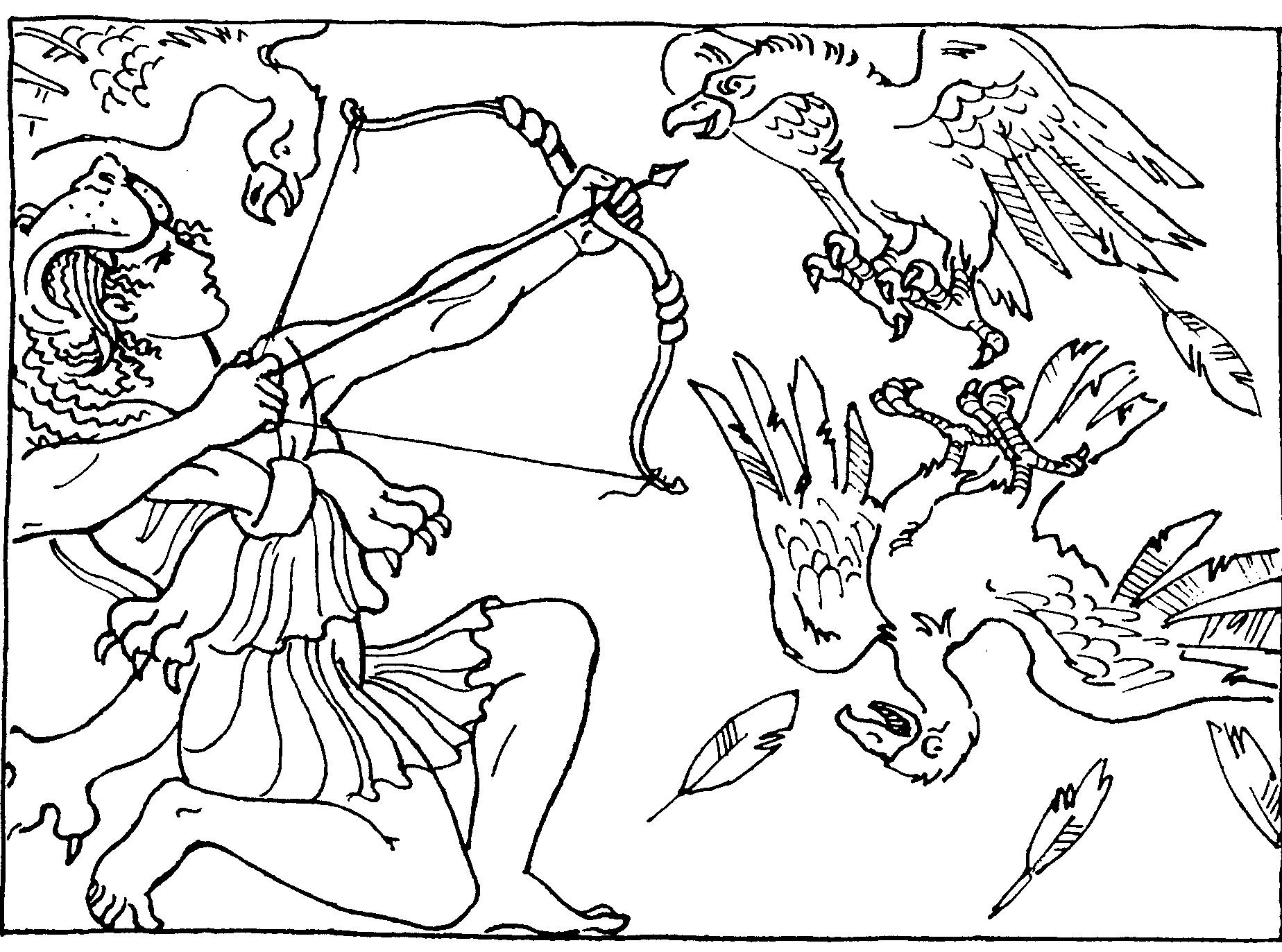 Стимфалийские птицы — третий подвиг Геракла