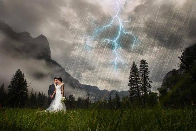 Дождь на свадьбу — хорошая или плохая примета?