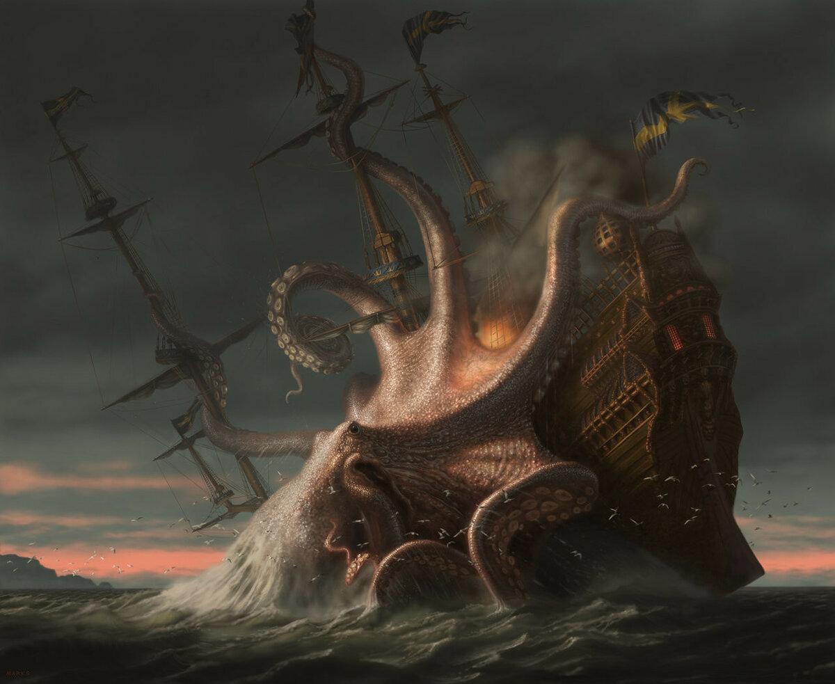 Кракен — легендарное чудовище из морских глубин. кто такой кракен есть ли кракен на самом деле