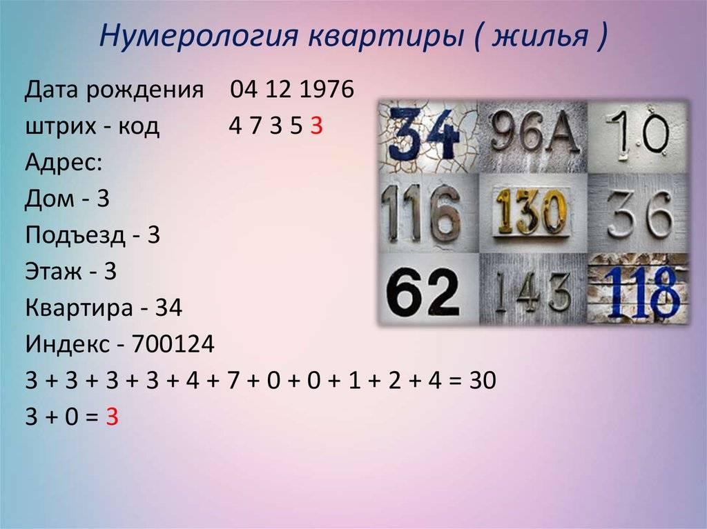 Значение номера квартиры и дома по нумерологии