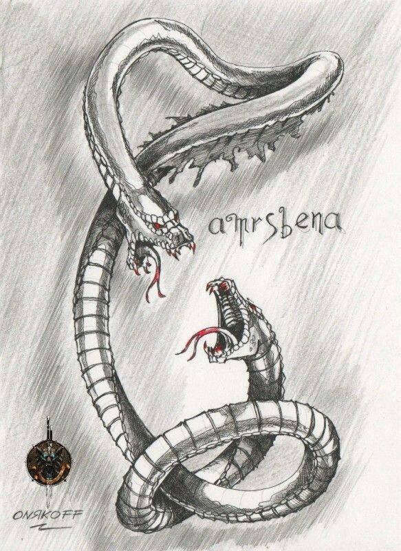 Амфисбена — двуглавая змея из древнегреческих мифов. в мире досуга: двухголовая змея