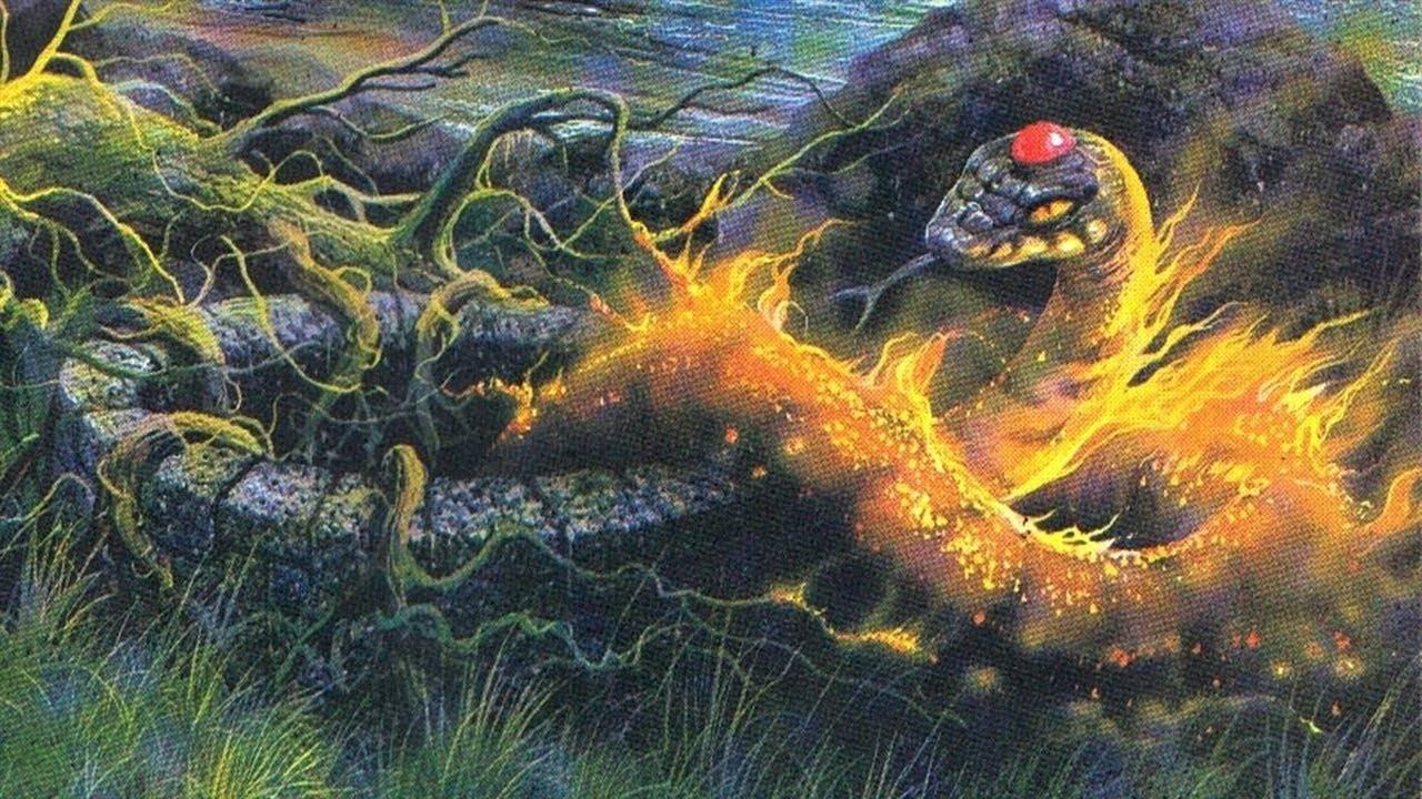 Вуивр — огненный змей, хранитель подземных сокровищ