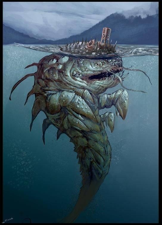 Чудовища морских глубин спрут кракен