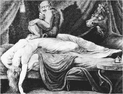 Фотографии ночных кошмаров человека, страдающего сонным параличом