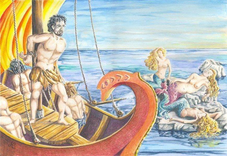 Сирены — губительницы моряков из древнегреческих легенд. сирены