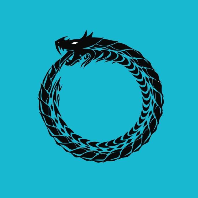 Оуробор (змей, кусающий свой хвост). энциклопедия символов
