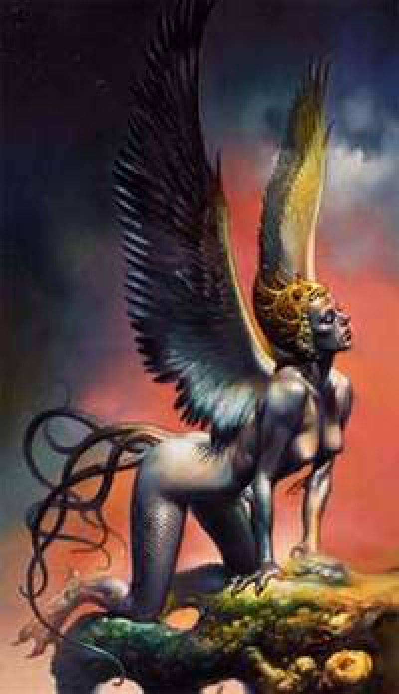Гарпии полуженщины-полуптицы из мифов древней греции
