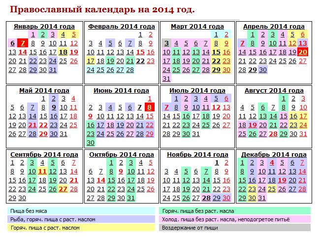 Какой сегодня праздник по церковному календарю 2020 - церковный православный календарь на год