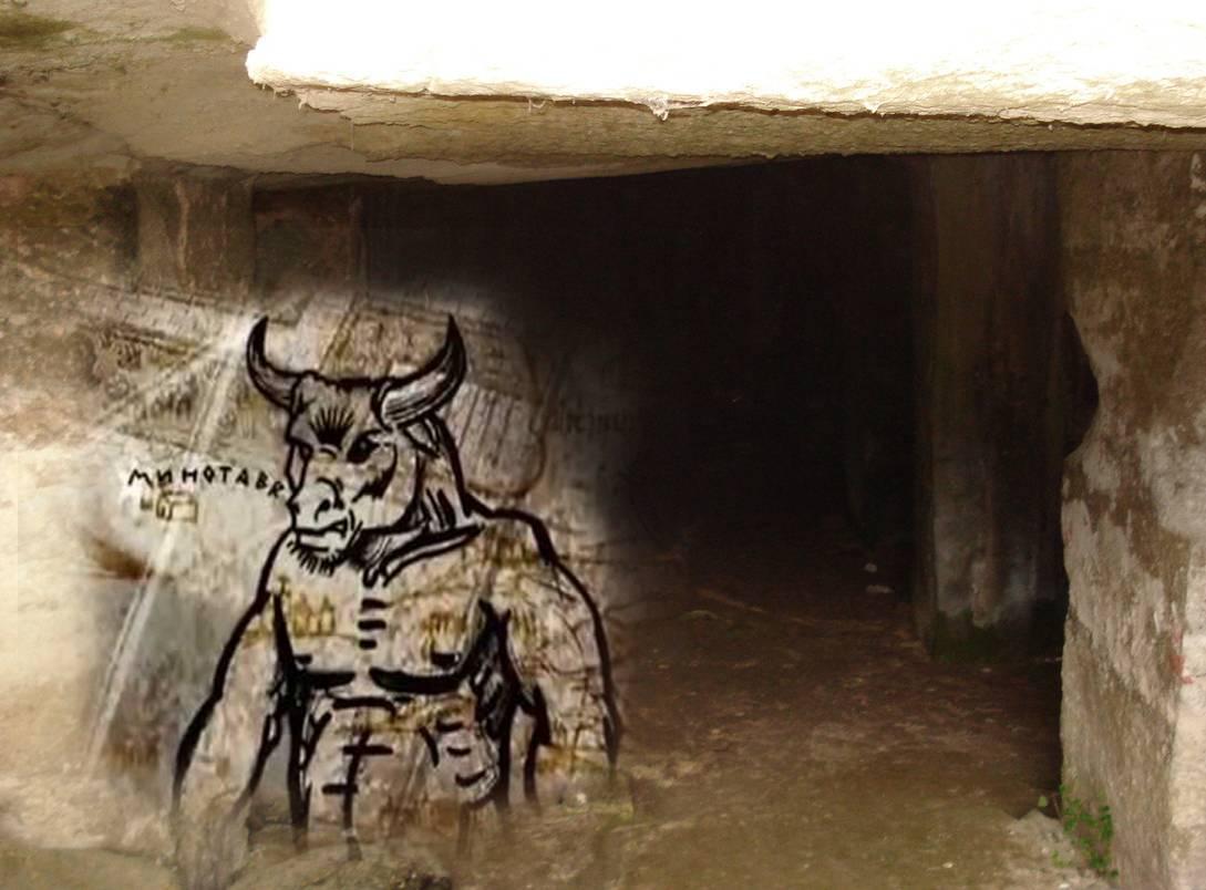 Минотавр — зловещий обитатель лабиринта на острове крит