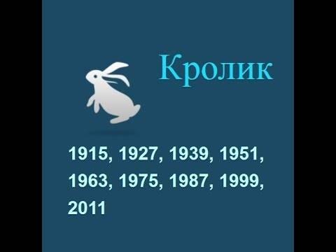 Год кролика гороскоп, 1987, 1999, 2011, 2023 год какого животного