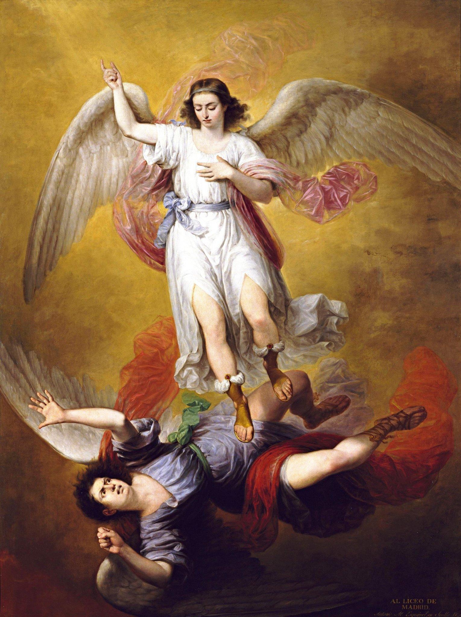 Архангел михаил – наш самый сильный защитник. история гордыни и мятежа. последняя надежда на спасение? сатана свержен с небес. разум, сила и правда