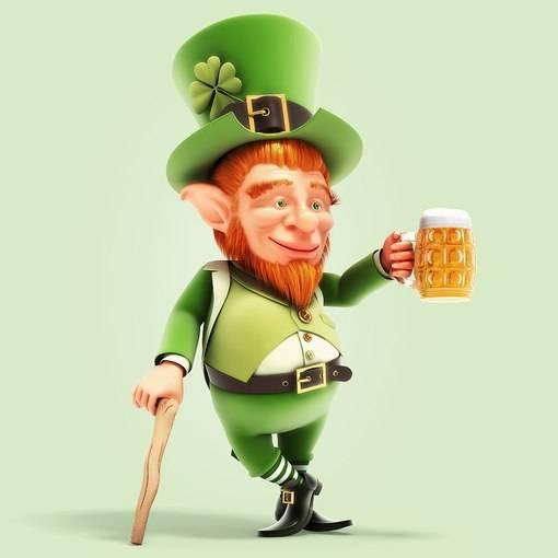 Ирландский лепрекон и день святого патрика