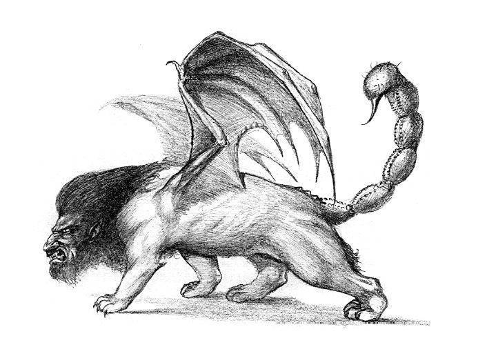 Какие виды мантикоры. мантикора — легендарное и непобедимое чудовище-людоед