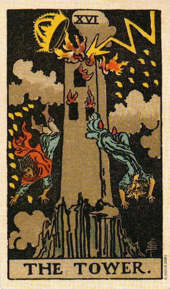 Башня (16 аркан) таро уэйта: значение карты в раскладах