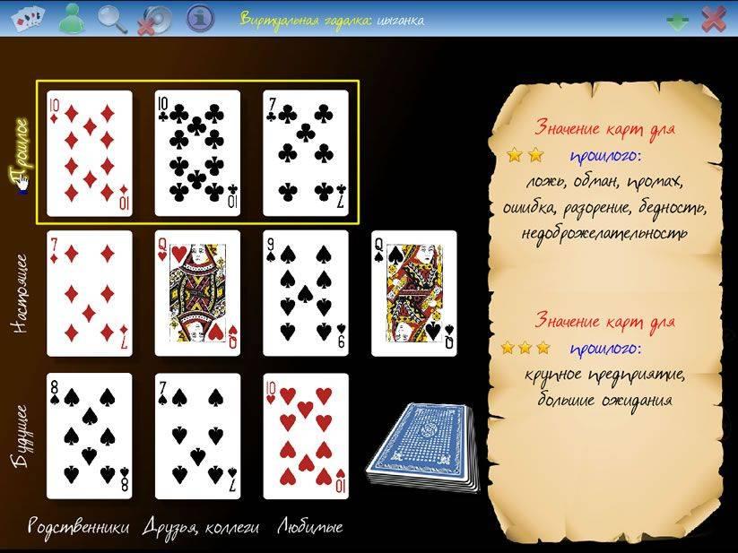 Значение игральных карт при гадании по методу литиции