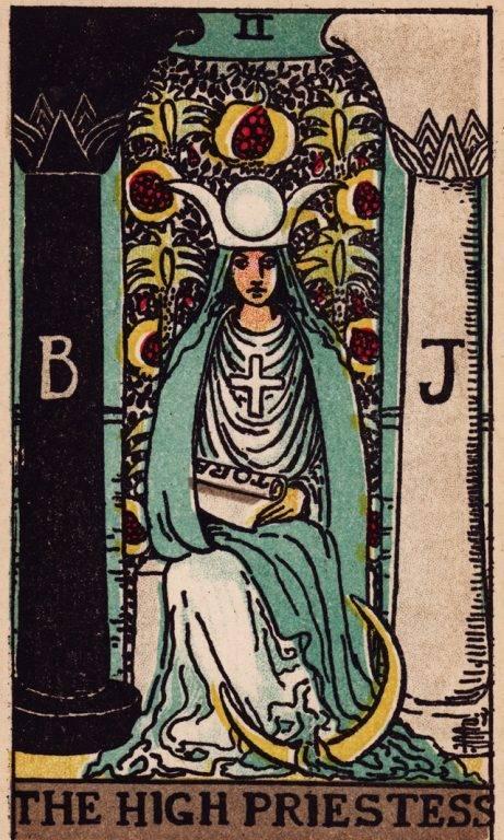 Значение карты верховная жрица: исида (ii) в колоде таро клеопатра
