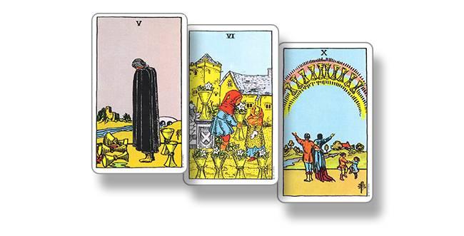 5 кубков (пятерка чаш) таро уэйта: значение карты в любви, финансах