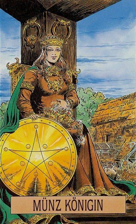 Королева пентаклей (дама монет): толкование значений карты таро