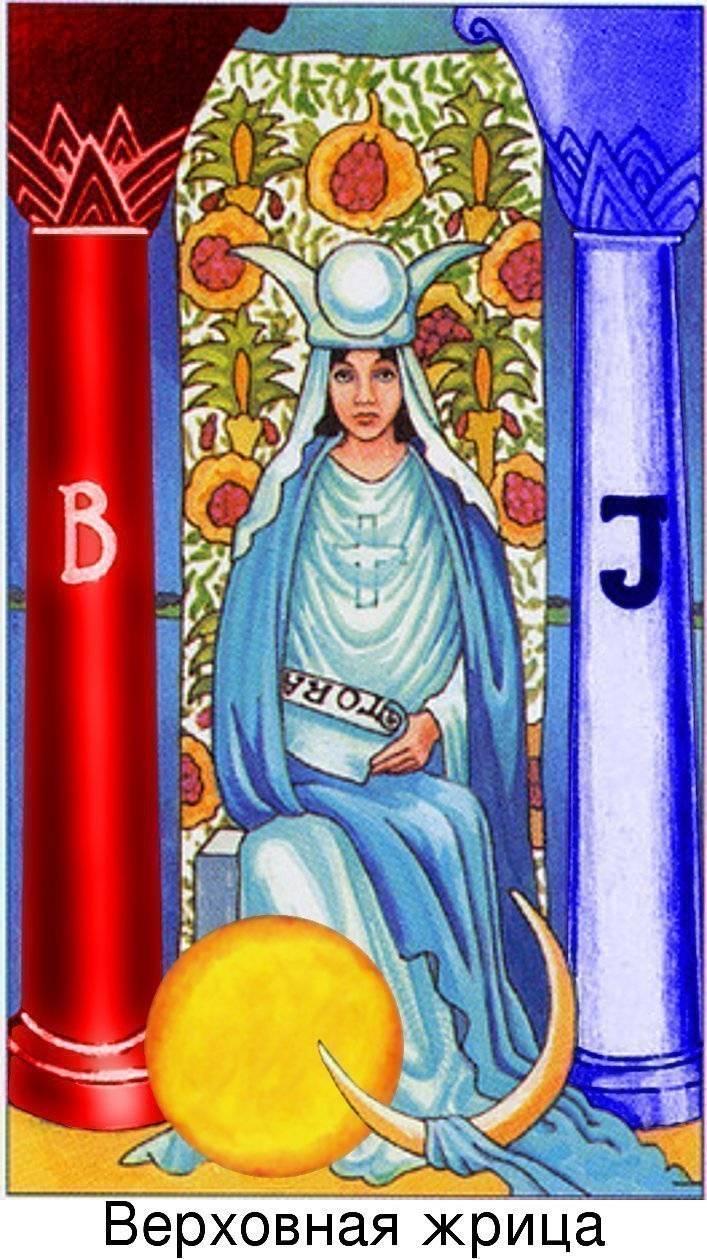 Верховная жрица Таро — значение старшего аркана