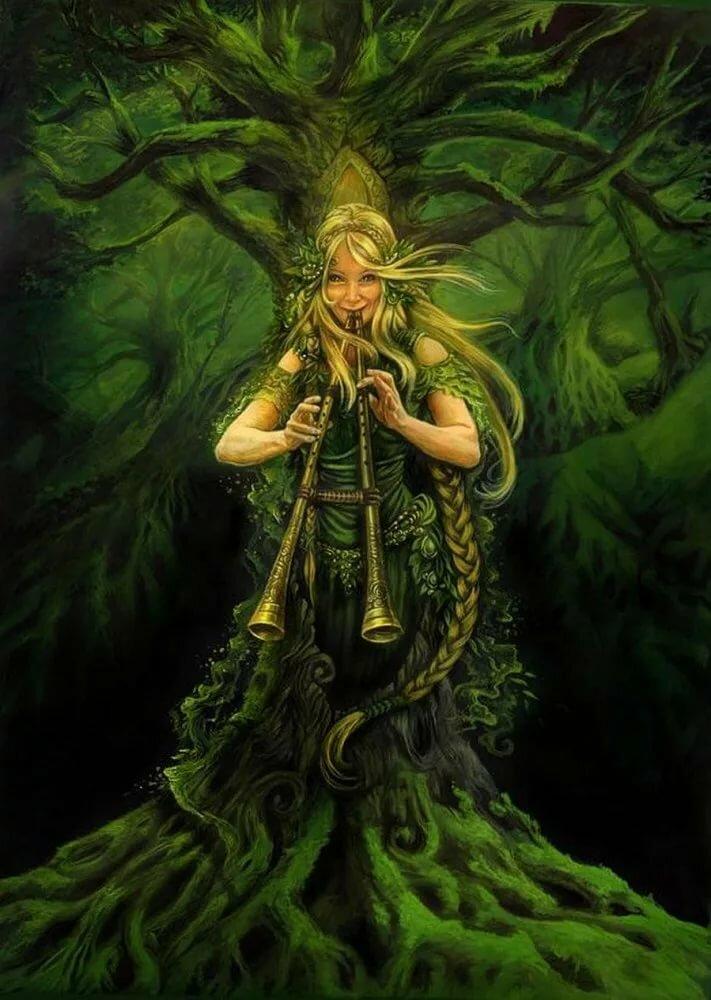 Дриады — обитательницы священных рощ и лесов   | магия любви