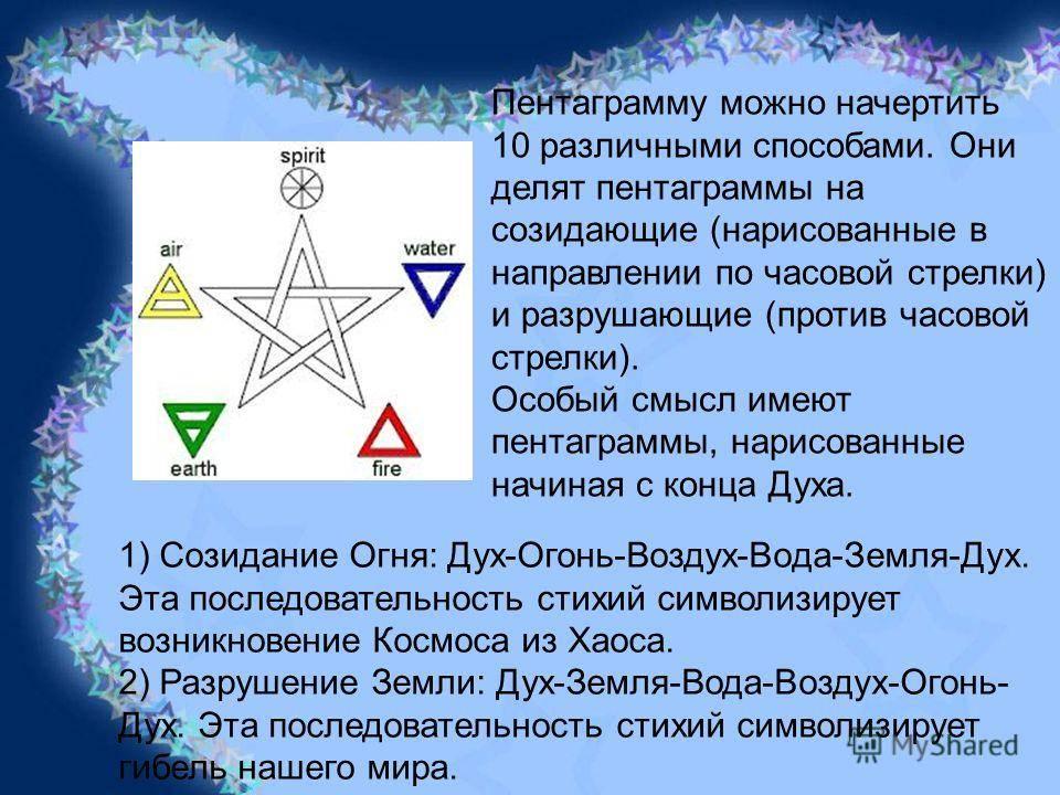 Черная пентаграмма дьявола: значение, описание ведьмы