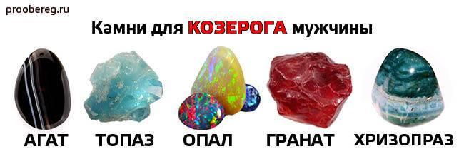 Камни подходящие козерогу женщинам и мужчинам: выбираем талисман по дате рождения