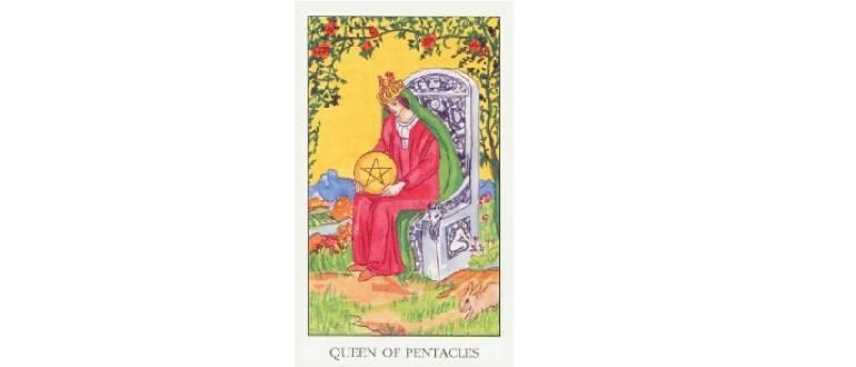 Королева пентаклей - значение карты таро
