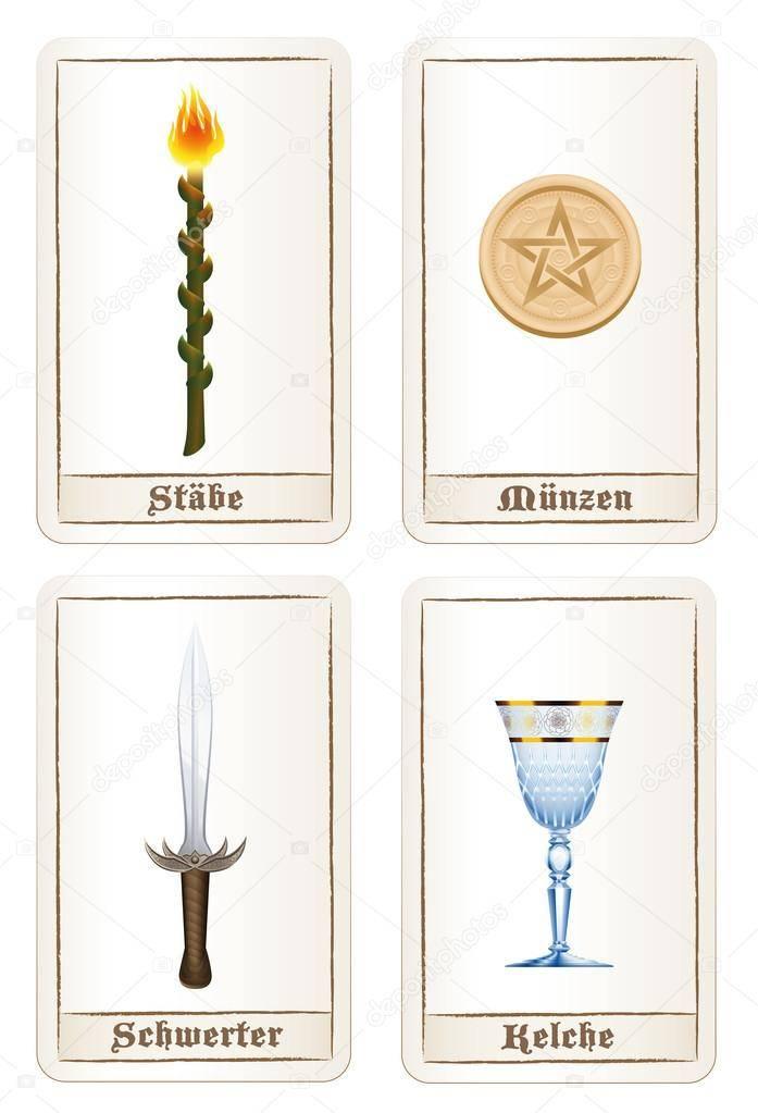 Что означают масти таро — жезлы, пентакли, кубки и мечи
