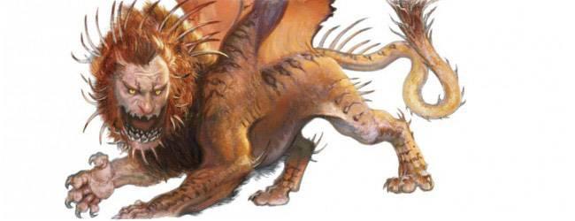 Мантикора — непобедимая помесь льва и скорпиона