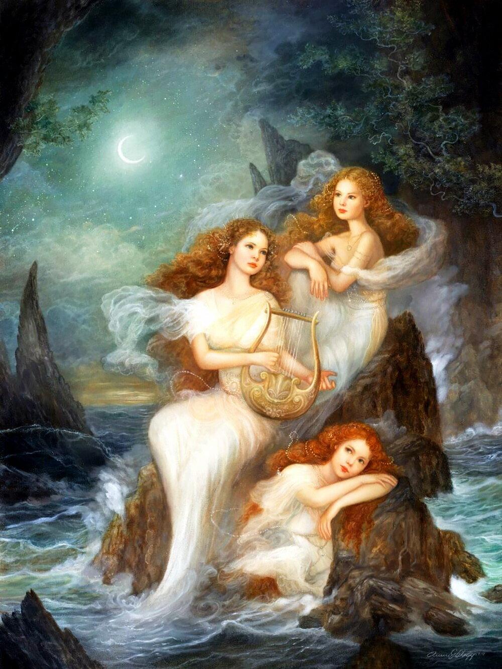 Морская нимфа нереида. нереиды — морские сестры из греческой мифологии. нимфа - это прекрасное божество или таинственный дух природы