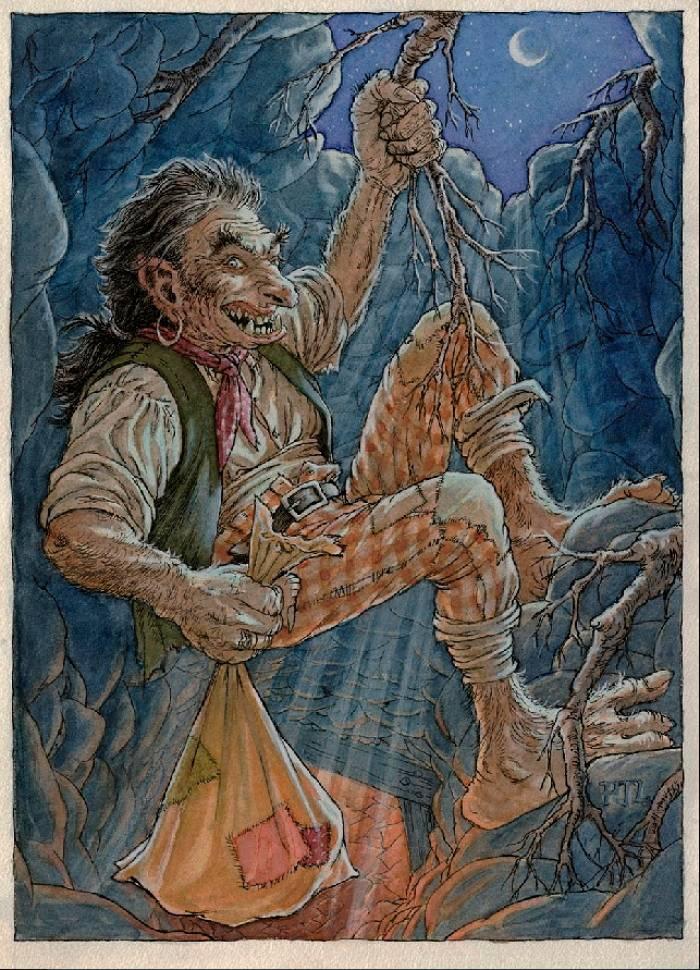 Домашние духи брауни из мифологии шотландии и северной англии