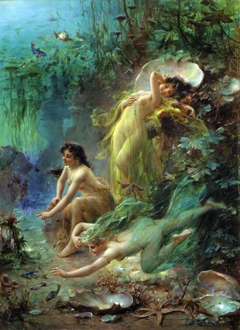 Нимфы — воплощение сил природы из греческих легенд     магия любви