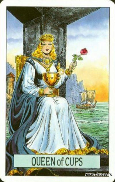 Королева Кубков значение карты Таро