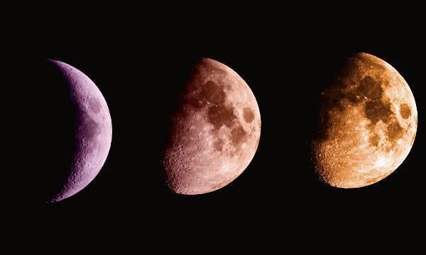 Растущая Луна по годам и месяцам