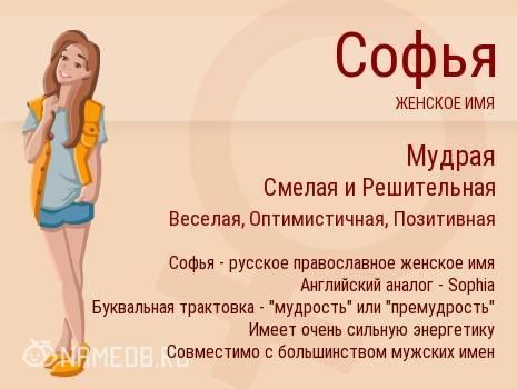 Значение имени София - черты характера и варианты судьбы