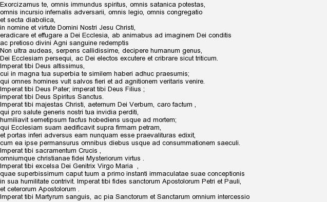 Обряд экзорцизма: что это такое, текст для изгнания дьявола на латыни