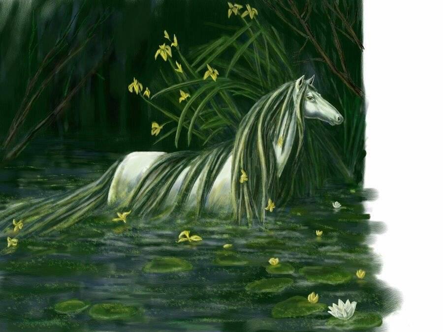 Келпи - лошадь из мифологии - мой конь