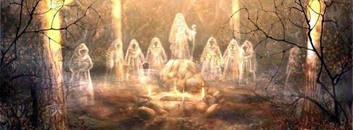 Праздник самайн - день конца осени у кельтов и шабаша у ведьм