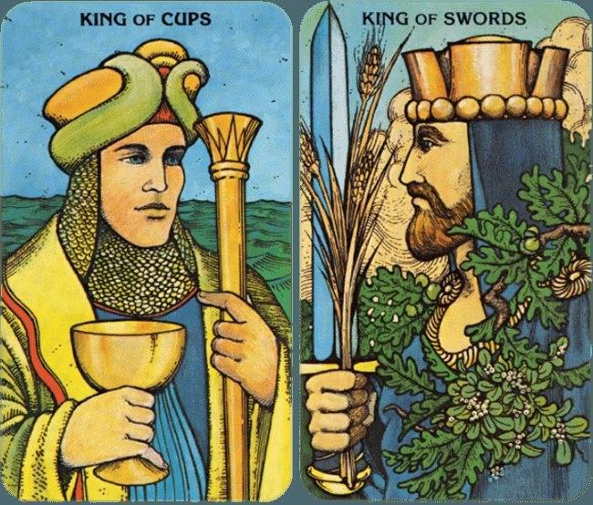Король кубков (чаш): значение в отношениях и любви, сочетание с другими картами