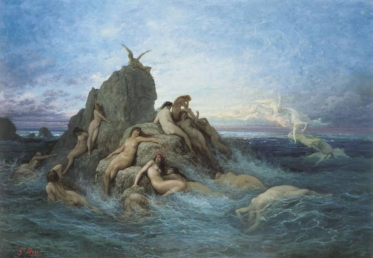 Наяды — обитательницы пресных водоемов древней греции. наяда