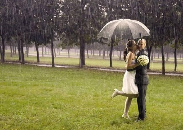 Идет дождь на свадьбу — примета ☔️ в [2019] & ее народные толкования