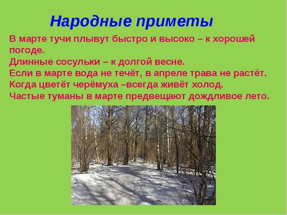 Весенние народные приметы и суеверия о погоде | мир магии