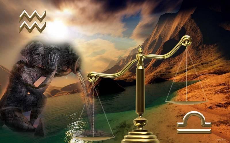 Весы и Водолей описание совместимости знаков