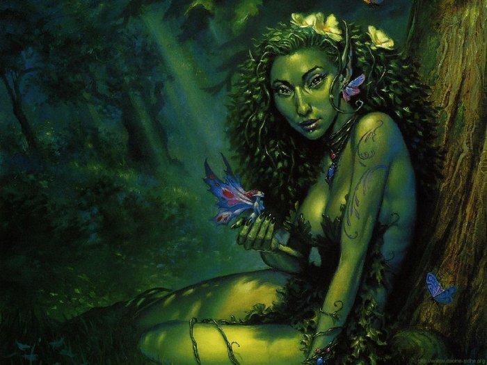 Дриады — духи деревьев, рощ и лесов из греческой мифологии
